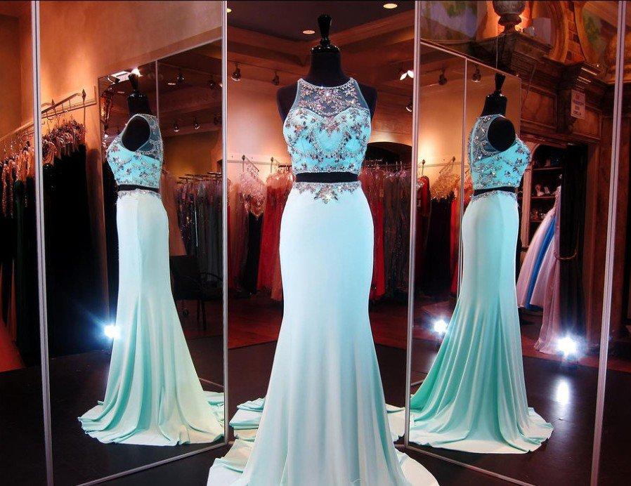 Mermaid beading Prom Dress