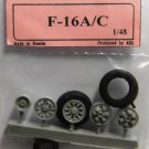 EQB48059a Equipage 1/48 Rubber Wheels for General Dynamics F-16A … F-16C