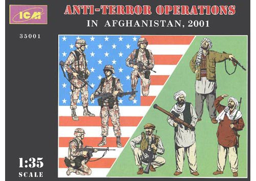 ICM-35001 ICM 1/35 Afghanistan 2001. US Forces and Taliban. 8 figures model kit