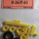 EQB72004 Equipage 1/72 Rubber Wheels for  Martin B-26A / B-26B Marauder
