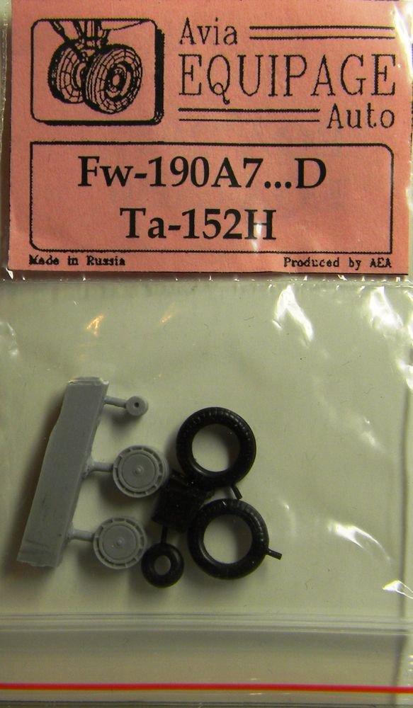 EQA72027 Equipage 1/72 Rubber Wheels forFocke-Wulf FW-190A7 � FW-190D / F8, F9