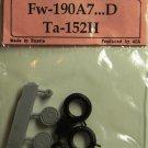 EQA72027 Equipage 1/72 Rubber Wheels forFocke-Wulf FW-190A7 … FW-190D / F8, F9