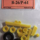 EQB72036 Equipage 1/72 Rubber Wheels for Northrop P-61A / P-61B Black Widow