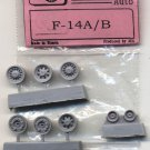 EQB72055 Equipage 1/72 Rubber Wheels for F-14 Tomcat US Jet Fighter Aircraft