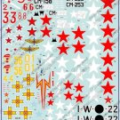 BGM-48021 Begemot decals 1/48 Polikarpov I-16 Soviet Fighter of pre-War and WW2