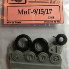 EQG48020 Equipage 1/48 Rubber Wheels for Mikoyan MiG-15, MiG-17