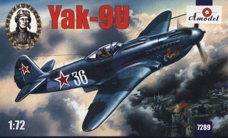 AMO-7289 1/72 Yakovlev Yak-9U Soviet WW2 Fighter model kit