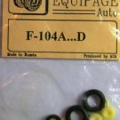 EQB72064a Equipage 1/72 Rubber Wheels for Lockheed F-104A ... F-104D Starfighter