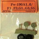 EQA72025b Equipage 1/72 Rubber Wheels for Focke-Wulf FW-109A / F / G model kits