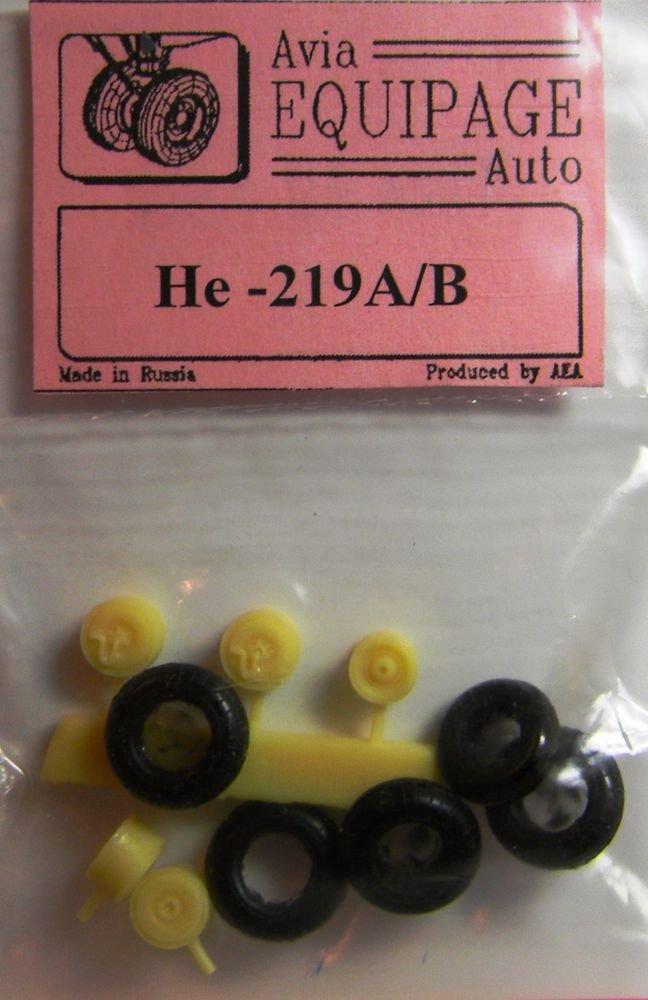 EQA72056 Equipage 1/72 Rubber Wheels forHeinkel He -219A / He-219B