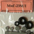 EQG72027 Equipage 1/72 Rubber Wheels for Mikoyan MiG-23ML Jet Fighter Aircraft