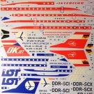 BGM-AVD144005 Begemot/AviaDecals 1/144 Tupolev Tu-134 in Europe decal sheet