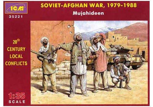 ICM-35221 ICM 1/35 Afghan Mujahideens in Soviet-Afghan War 1979-1988 (four figur