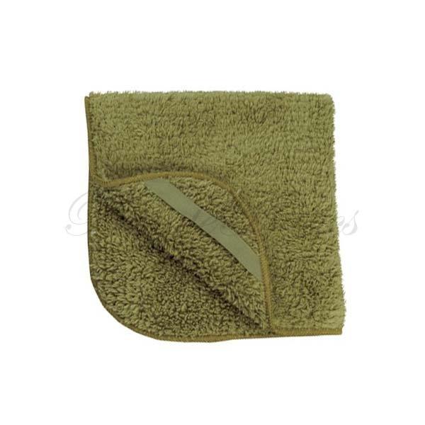 Plush Microfiber Face Wash Cloth, Olive Green, 12x12 - BT6011Ox1