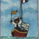 New Sailor Bear Hand Painted Needlepoint Canvas