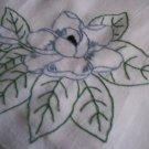 magnolia dish towel tea towel cotton fabric embroidered