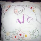 handcrafted hand embroidered decorative throw bed pillow the roaring 20's