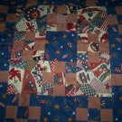 Old glory patchwork dresser scarf  table cloth all handcrafted