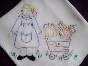 dish towel tea towel the country gardener embroidered cotton fabric