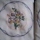 set of 2 all handcrafted pillowcases sweet peas