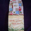 handcrafted oven mitt of bees dragon fly all things grow with love