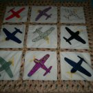 baby or lap quilt airplanes galore handcrafted 45 inches by 44 inches handmade