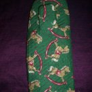 one handcrafted grilling mitt oven mitt  christmas rocking horse