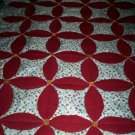 less than traditional burgundy quilt wooden buttons 59 inches by 44 inches handmade