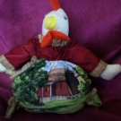 pouch pal stuffed chicken in a bag baby doll 10 inches tall handcrafted