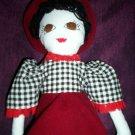 handmade prairie doll black hair a best friend 20 inches tall