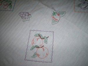 table cloth apple grape plum strawberry peach 68 inch circle radius