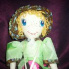 prairie girl doll lady bug dress one of a kind doll 20 inches tall handcrafted