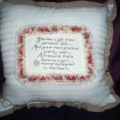 hand embroidered decorative throw bed pillow handcrafted she was a gift