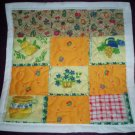 doll quilt handmade fruit fabric patchwork 14 inches by 15 inches