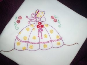 dish towel tea towel embroidered charming southern belle 30 by 38 inches