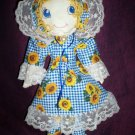 little prairie girl doll sunflower dress 20 inches tall handcrafted