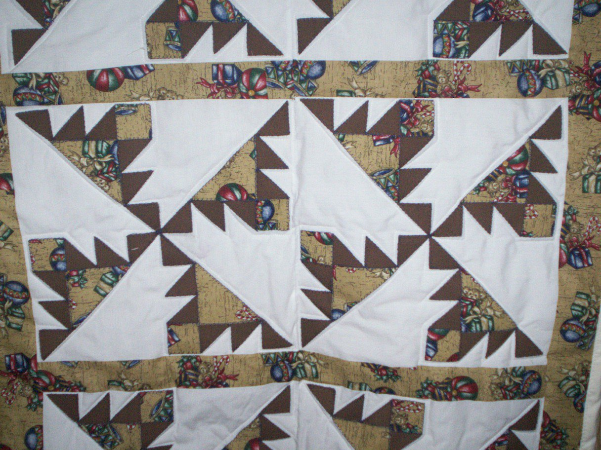 baby crib lap quilt handmade Kansas troubles pattern 32 inches by 46 inches