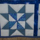 cradle bassinet baby blanket lap quilt handmade saw tooth star 40 by 41 inches