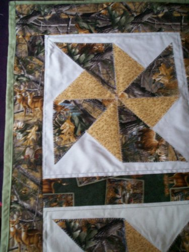 double pinwheel the outdoor quilted table runner dresser scarf  table cloth all handcrafted