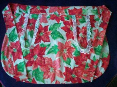 apron Christmas poinsettia fabric