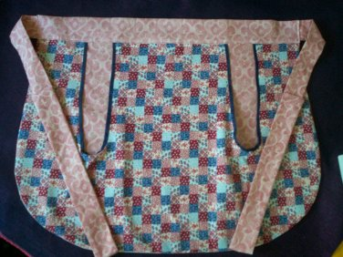 apron red white blue handcrafted