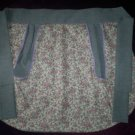 apron tea roses and blue gray