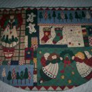 christmas tree skirt country angels ginger bread men mantel scarf handmade