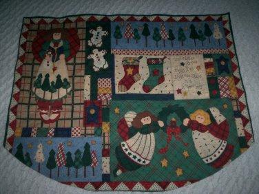 christmas tree skirt country angels ginger bread men mantel scarf handmade