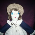 handmade doll brown hair blue eyes  21 inches tall
