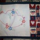 Love  hearts wild flowers vanity dresser table runner