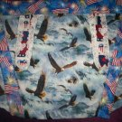 apron bald eagle american flag fabric  handmade