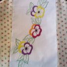 blender cover spring flowers pansies handmade embroidered