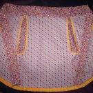 apron handmade geometric retro flowers