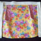 spring colors spring flowers apron handmade